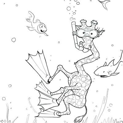 Ronald bousseau girafe sous marine ronaldbousseau