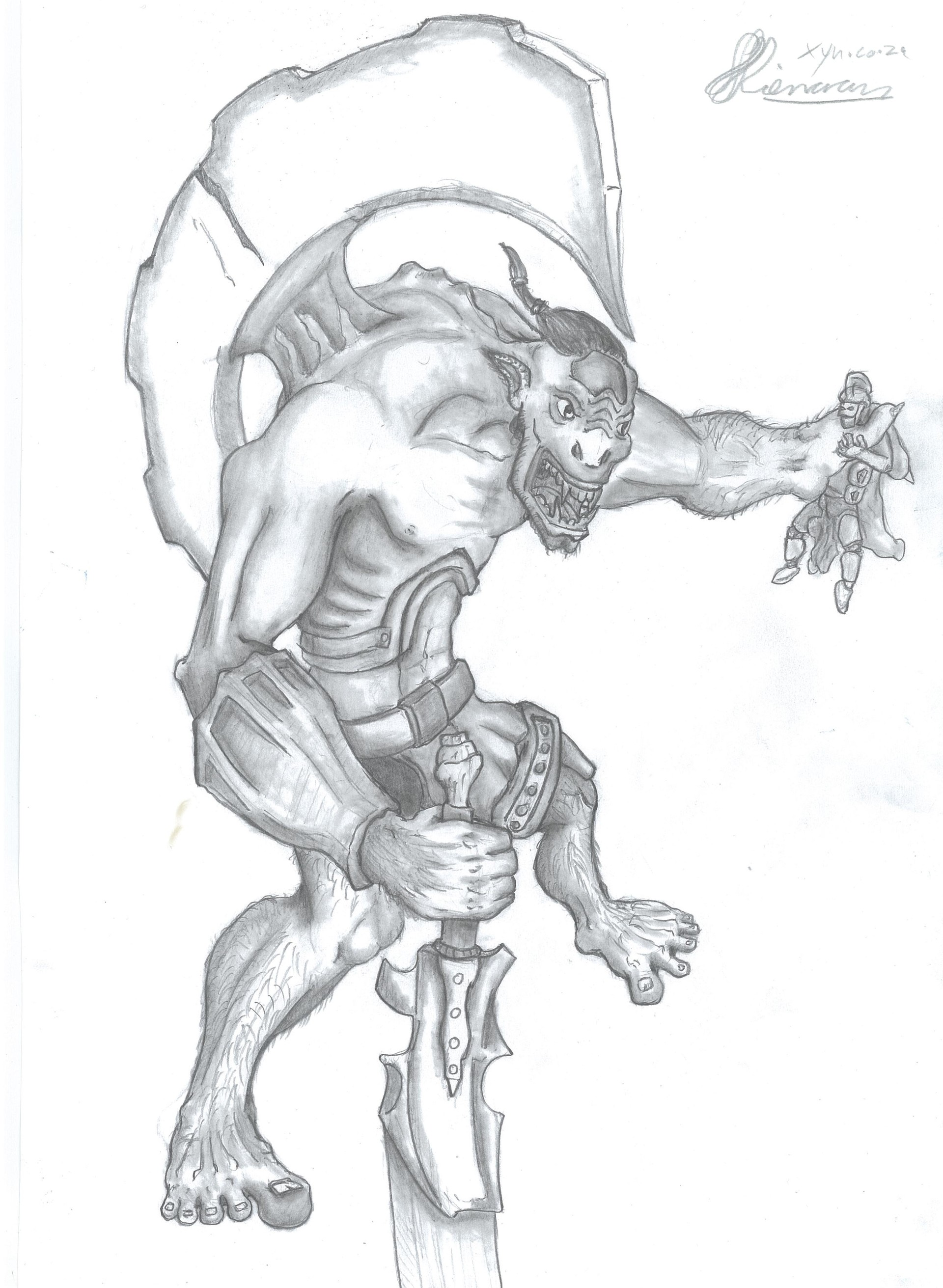 Xyn digital xynsketches ogreberserker