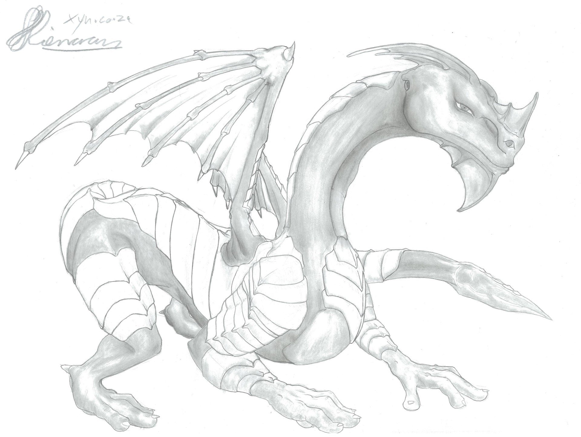 Xyn digital xynsketches dragonarmour