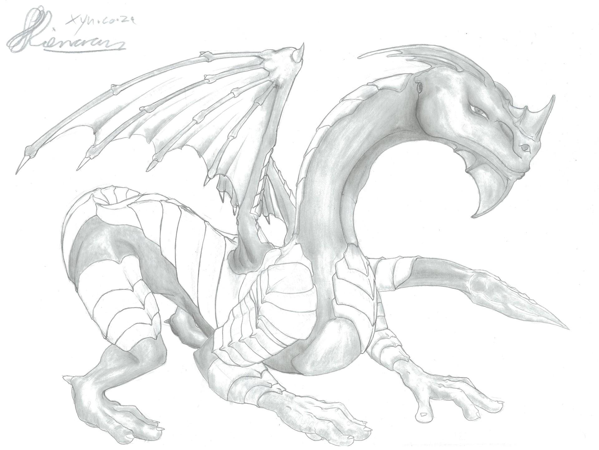 Xyn digital xynsketches dragonarmour