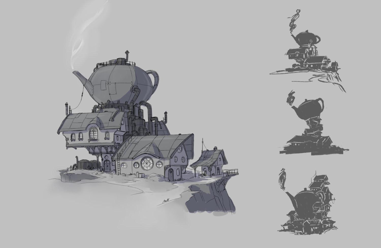 Steampunk teahouse