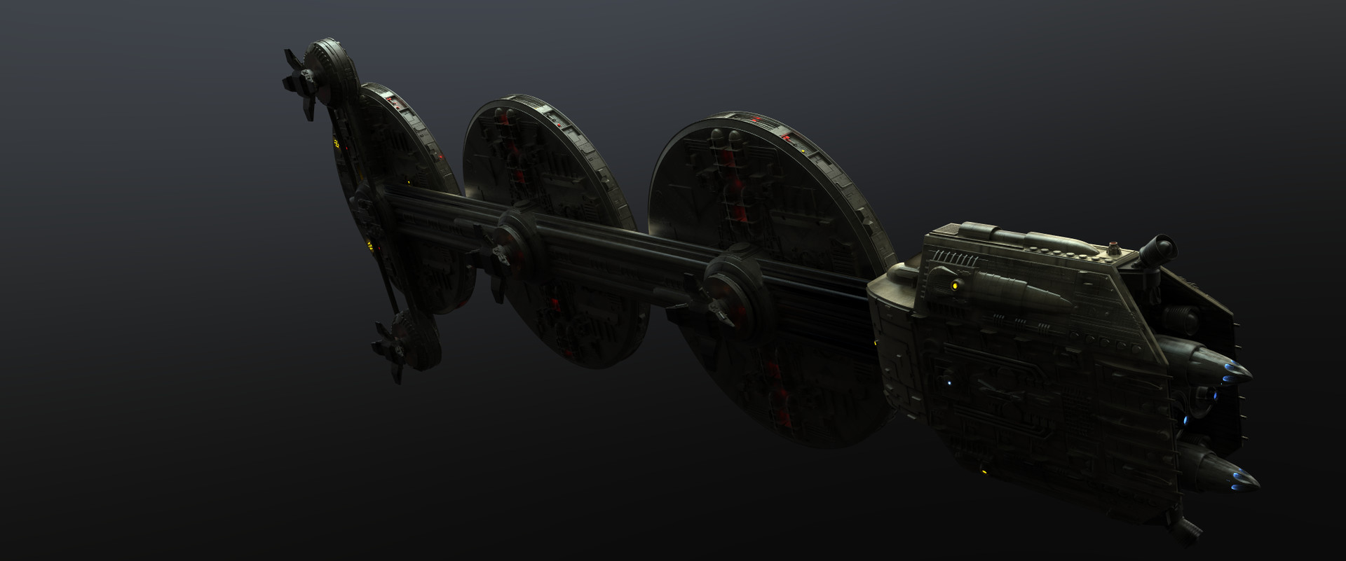 Mineral Ship Test Render. (Co-Modeled by Wes Chilton and Myself)