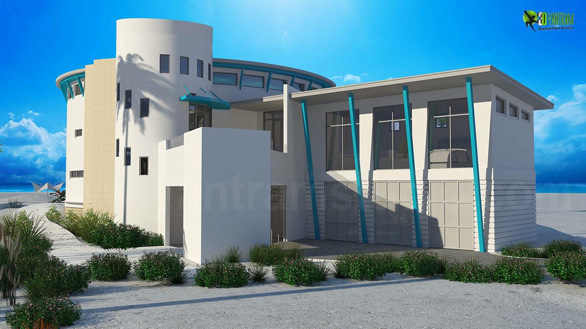 Artstation Modern 3d Bungalow Architectural Exterior Interior Design Usa Yantram Architectural Design Studio