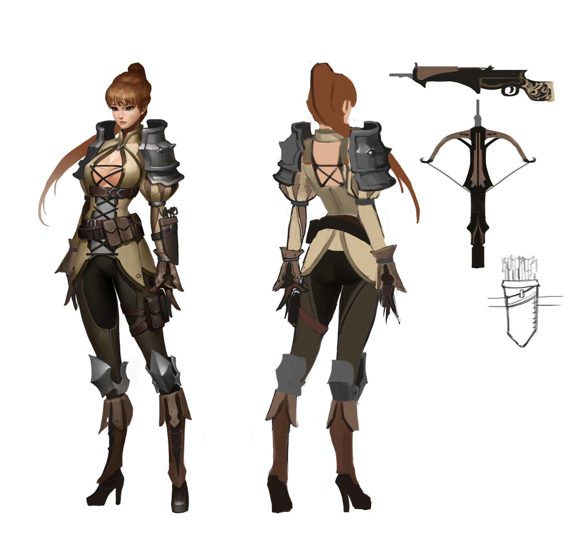 Gnomon Character Concept Design : Artstation concept design jayjiwoo park