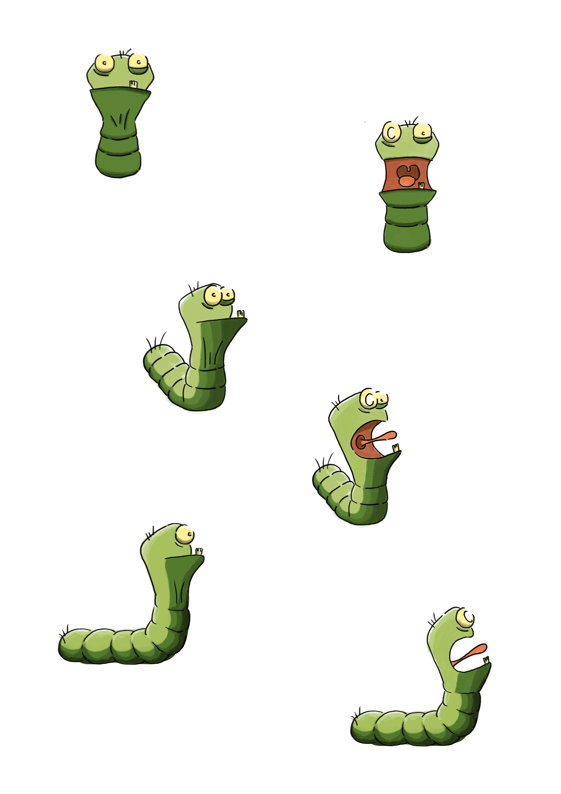 "I created the design of ""Edgar"" the worm !"