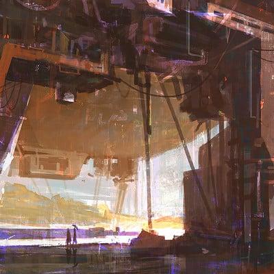 Ayan nag airship hangar by ayan nag