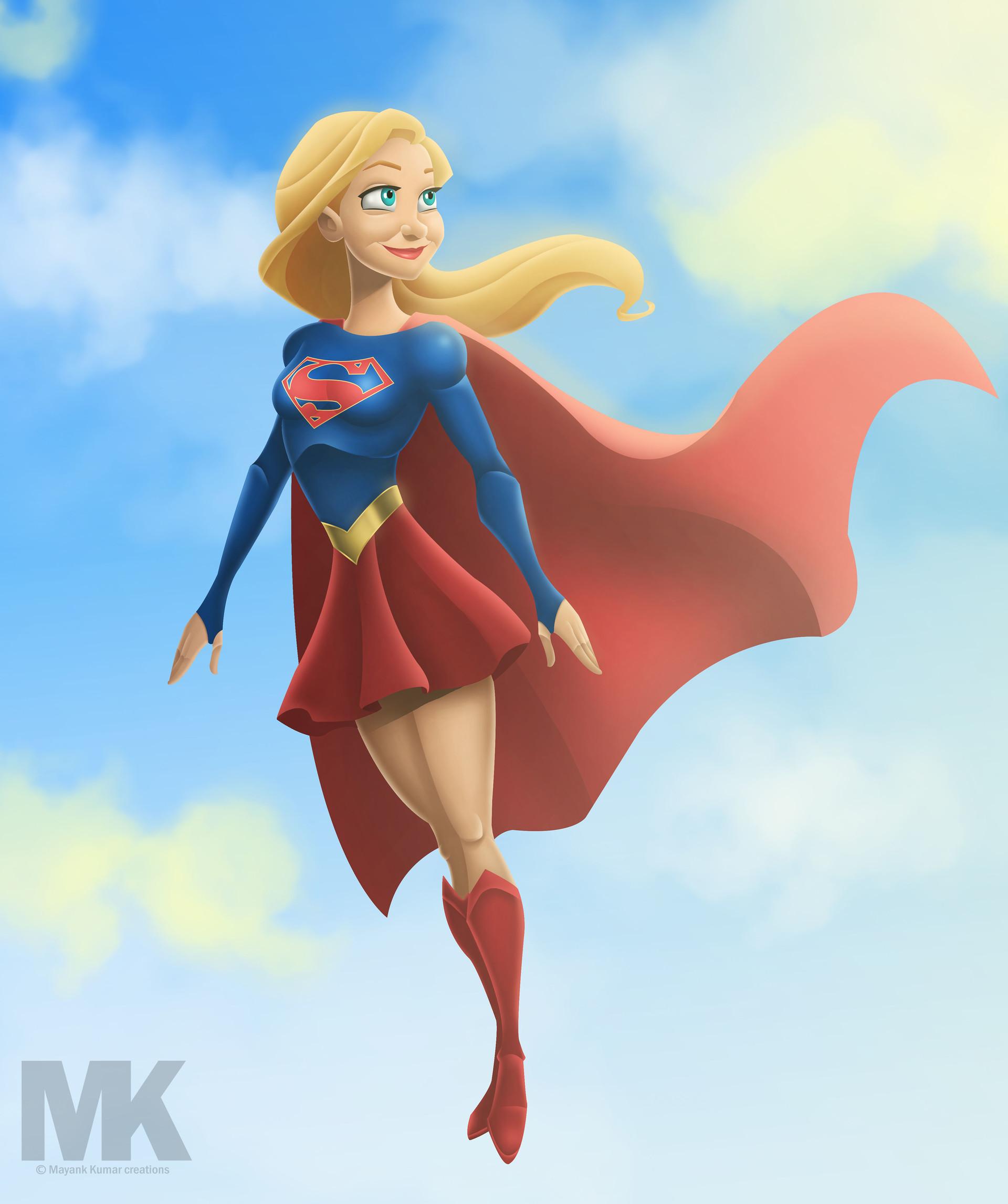 Artstation - Cbs Supergirl - Animated Style, Mayank Kumarr-7442