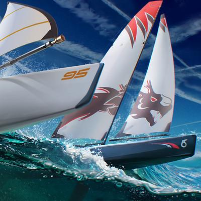 Sviatoslav gerasimchuk sail boat racing