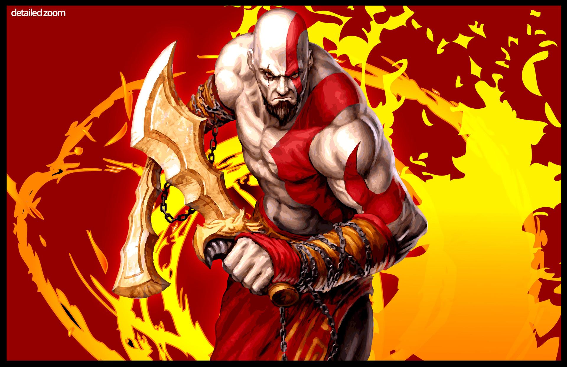 Mohammad Nidal Khan God Of War Kratos Fan Art