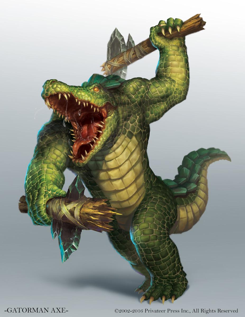 Gatorman axe