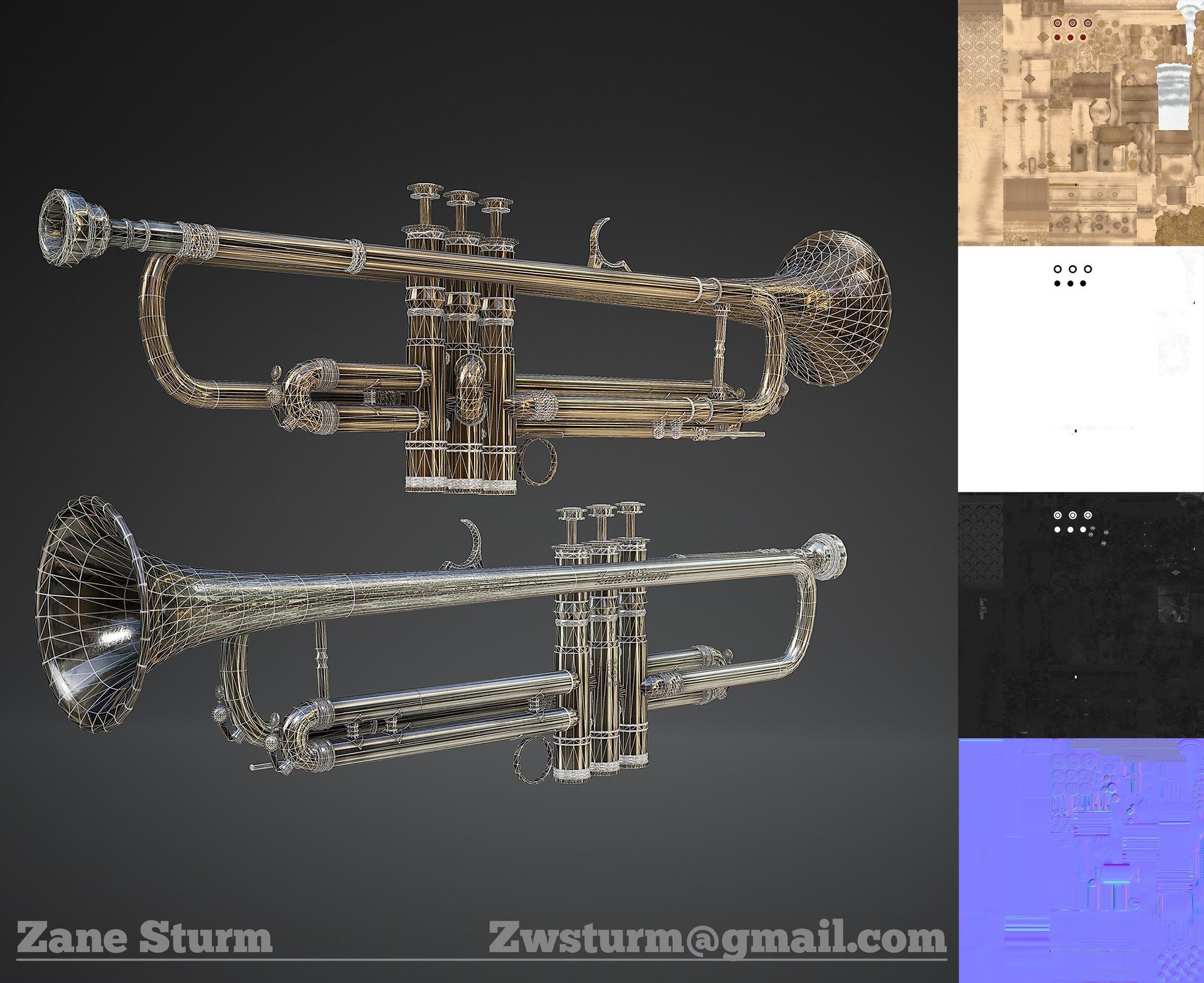 Zane sturm trumpet wireframe