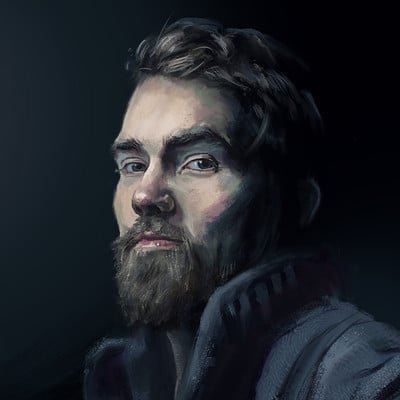 Peter kapritsias portrait study of a young man