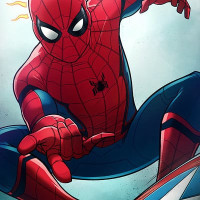 Andrew kwan spider man civil war by andrewkwan d9v0ne5