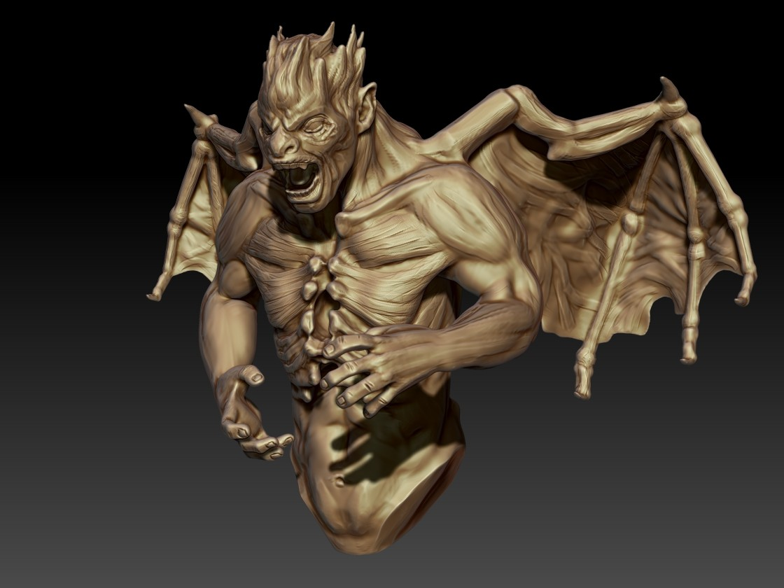 Andrew krivulya final zbrush demon2