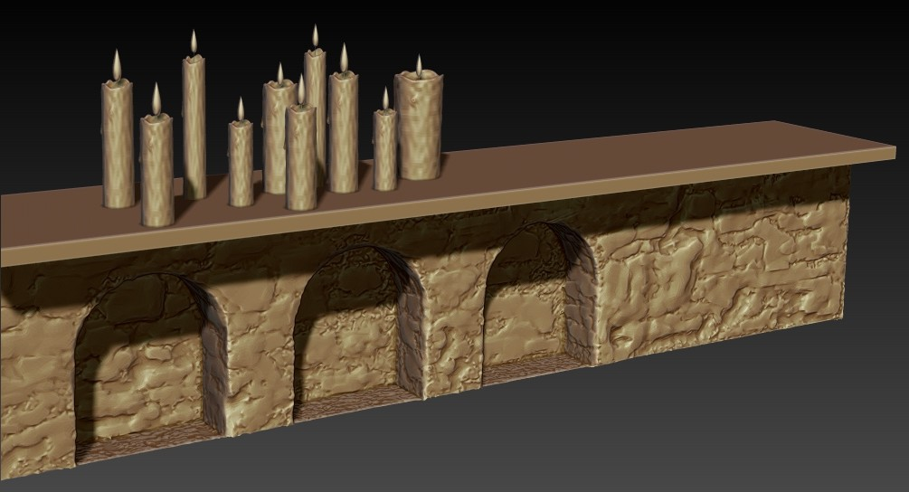 Andrew krivulya table arch candles