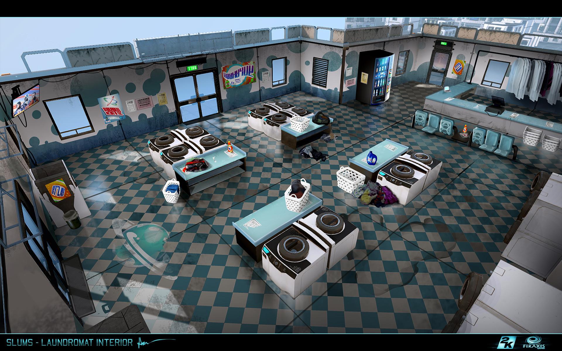 Samuel aaron whitehead slums laundromat interior