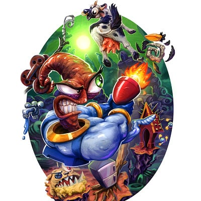 Dustin lincoln earthworm jim small