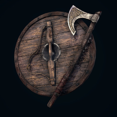 Andrew finch viking shield axe 0001 layer 4