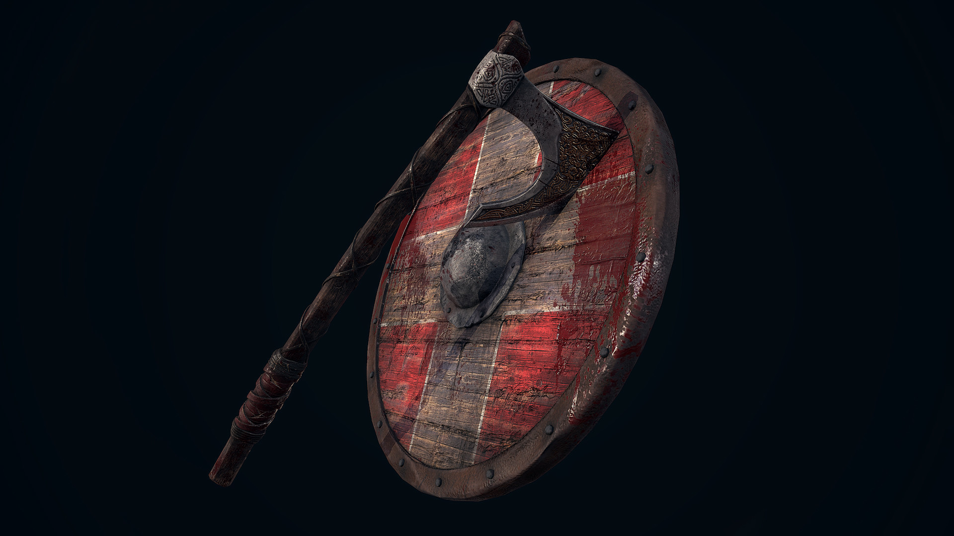 Andrew finch viking shield axe 0003 layer 2