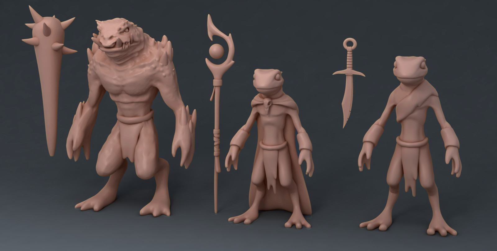 Bad guys sculpt