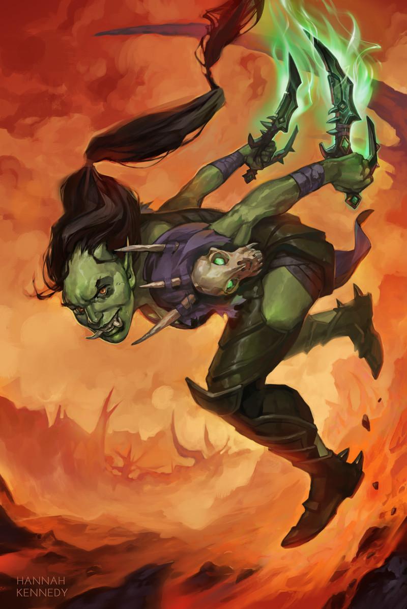 Artstation Orc Rogue Hannah Kennedy