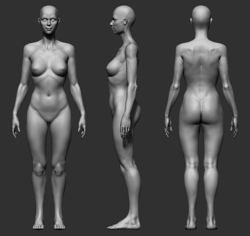ArtStation - Female Anatomy Study 02, Yu Han Yu