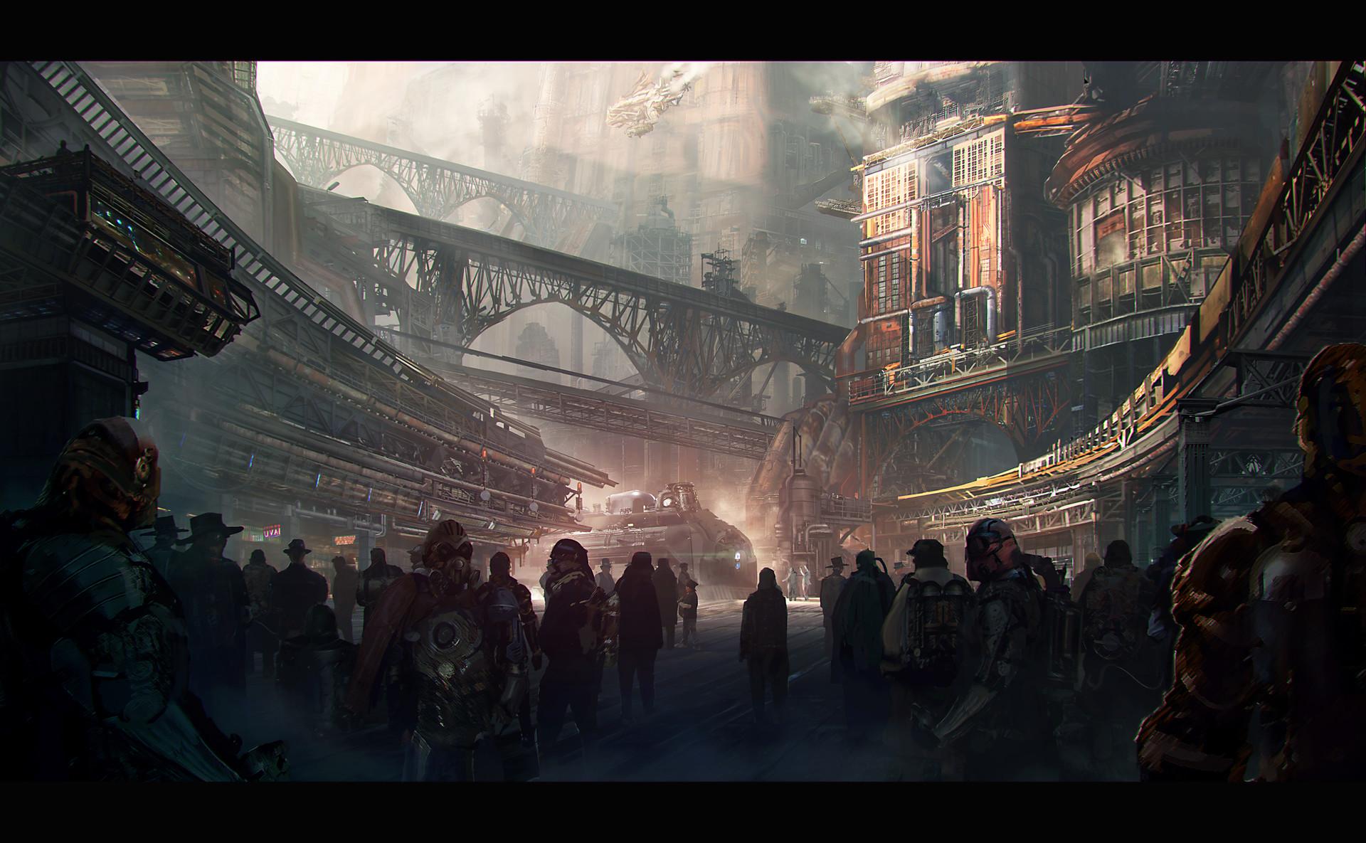ArtStation - steampunk city 2, fujihiko sawai