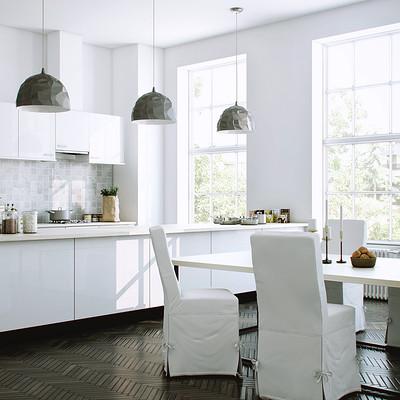 Ngurah arya white kitchen