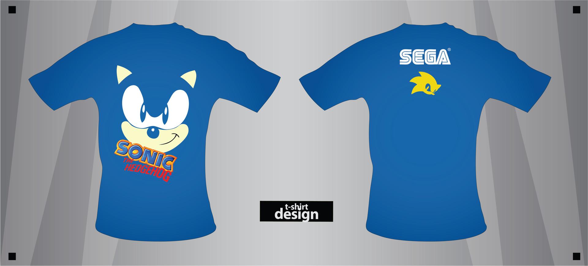Artstation Sonic The Hedgehog Tshirt Design Mohammad Nidal Khan