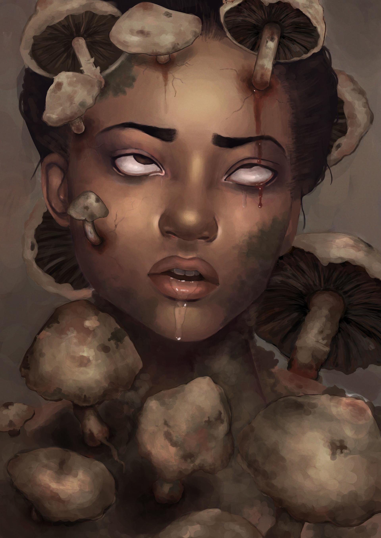 Imogen appleton mushroom portrait