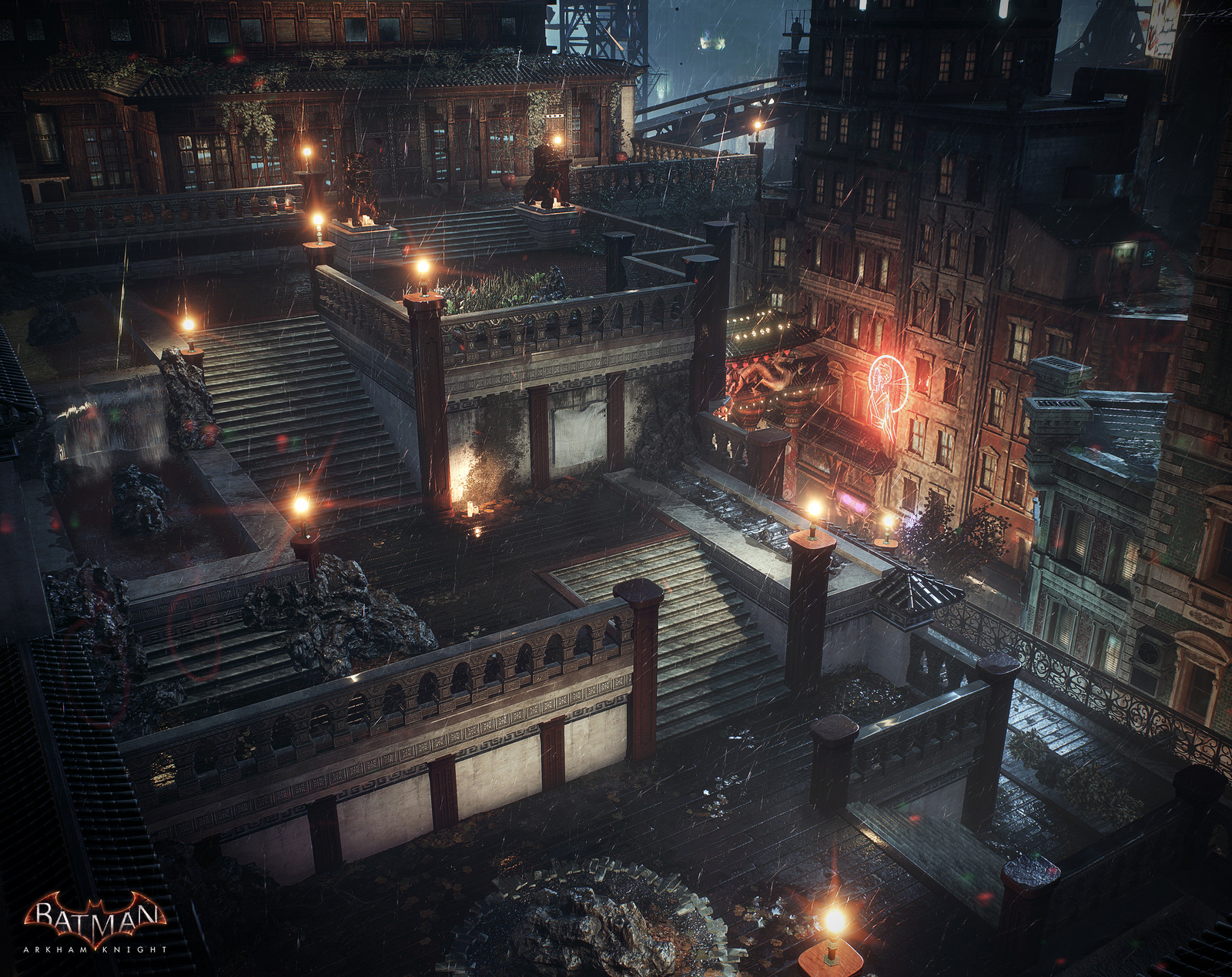 Batman Arkham Knight Chinatown Penthouse Temple Gardens