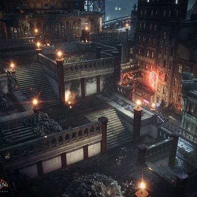 1dd85a5513a07 Batman Arkham Knight Chinatown Penthouse Temple Gardens