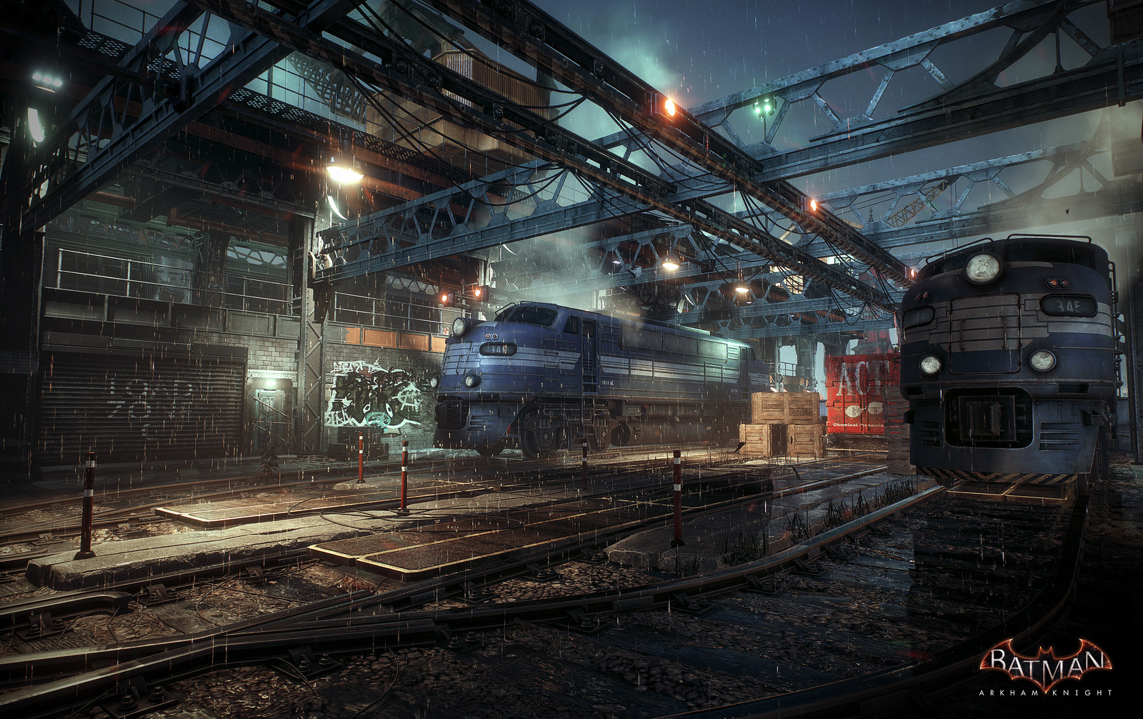 Batman Arkham Knight Trainyard