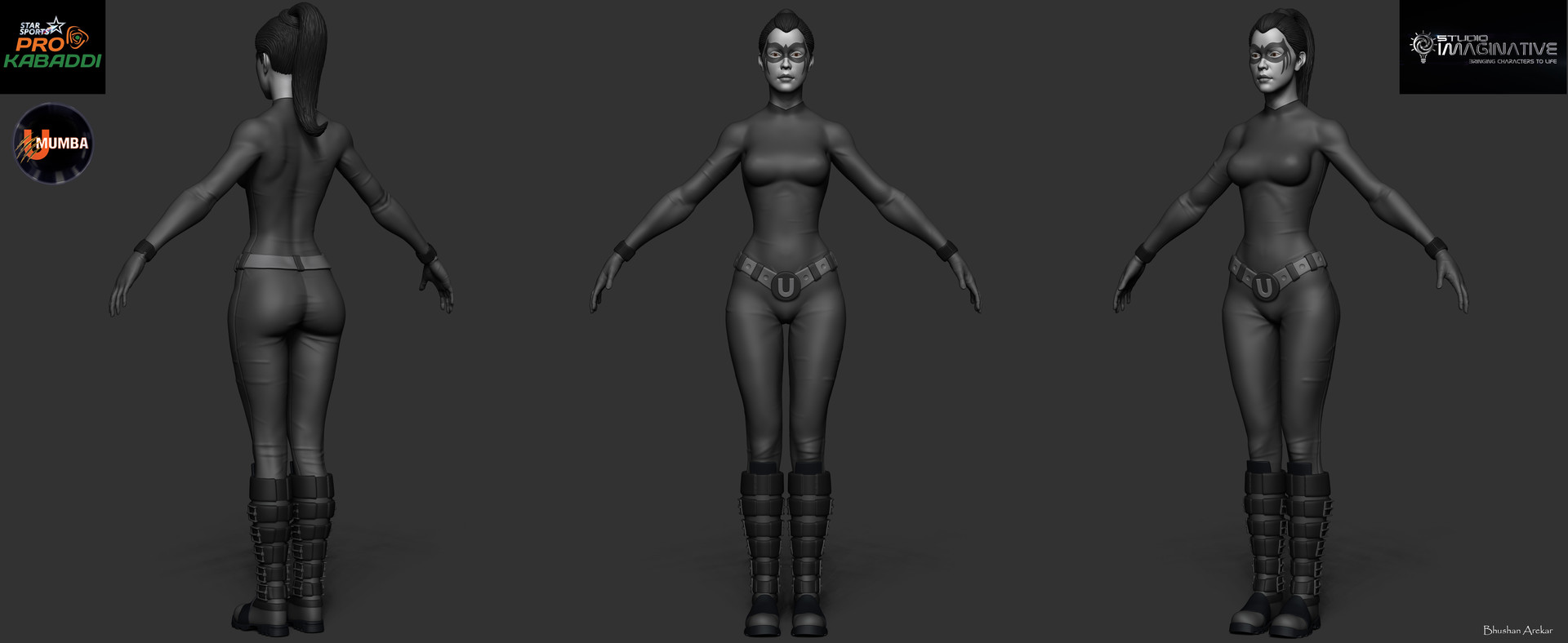 Responsible for modeling,sculpting,UV/Bake and first stage texturing.