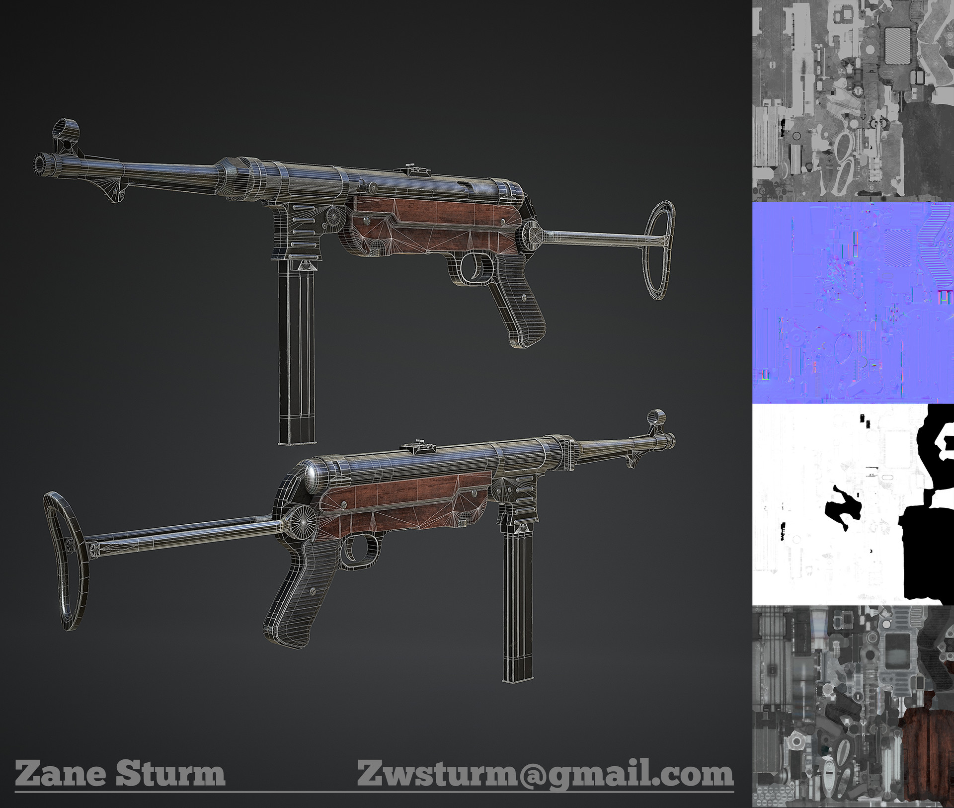Zane sturm mp40 wireframe