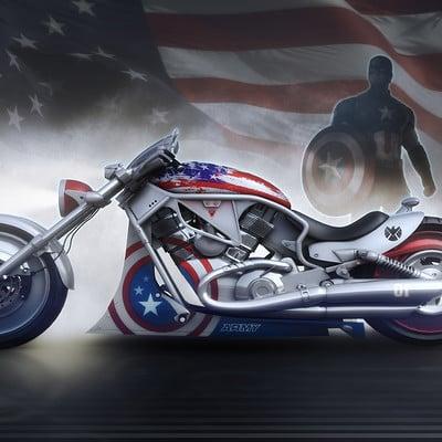 Encho enchev captain america bike concept