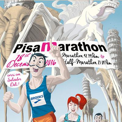 Saimon toncelli pisa maratona 2016 by artbysai d9ynaai