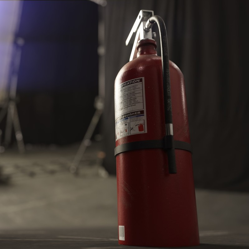 Dusty Fire Extinguisher