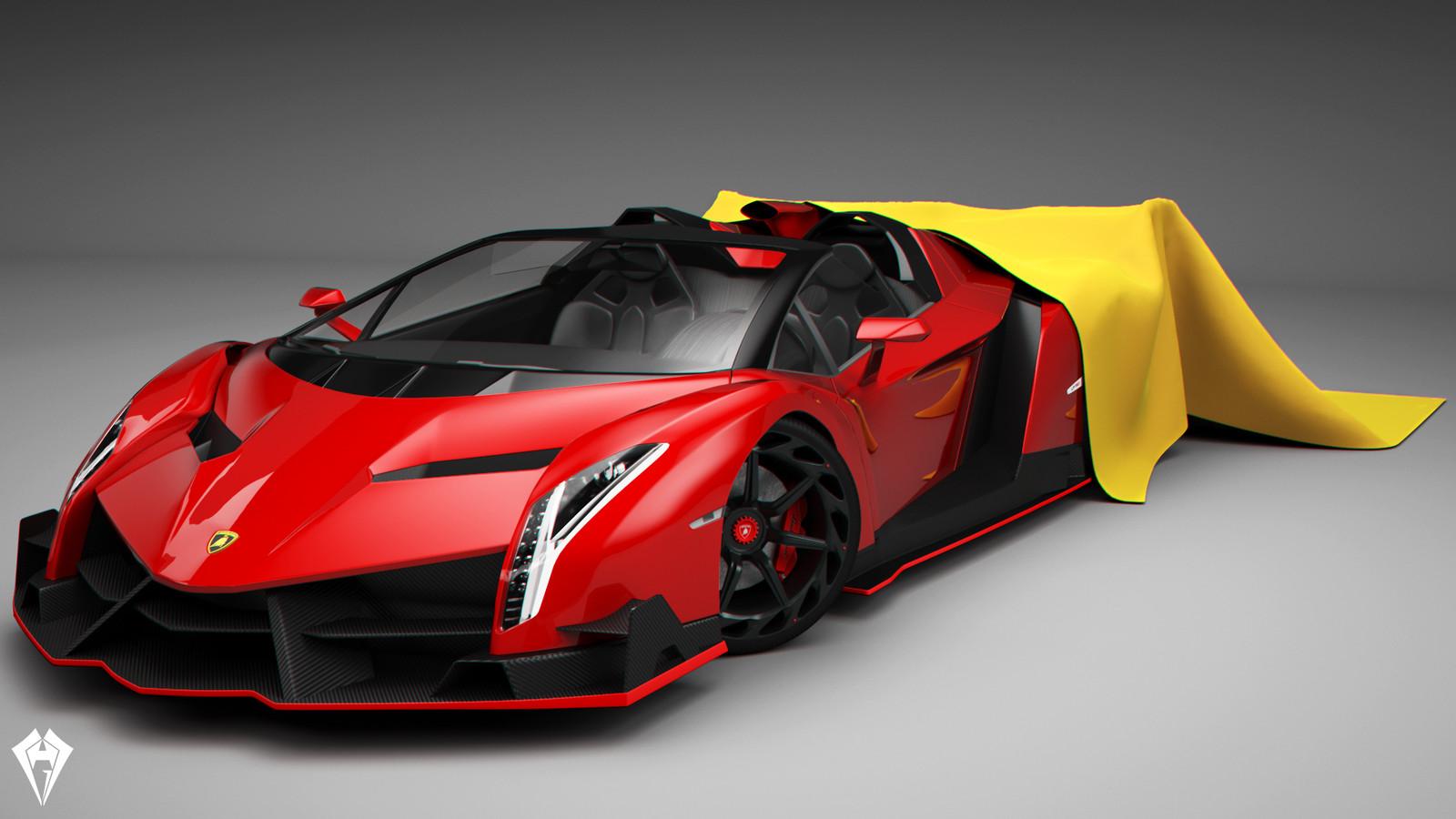 Lamborghini Veneno Roadster by hugo matilde