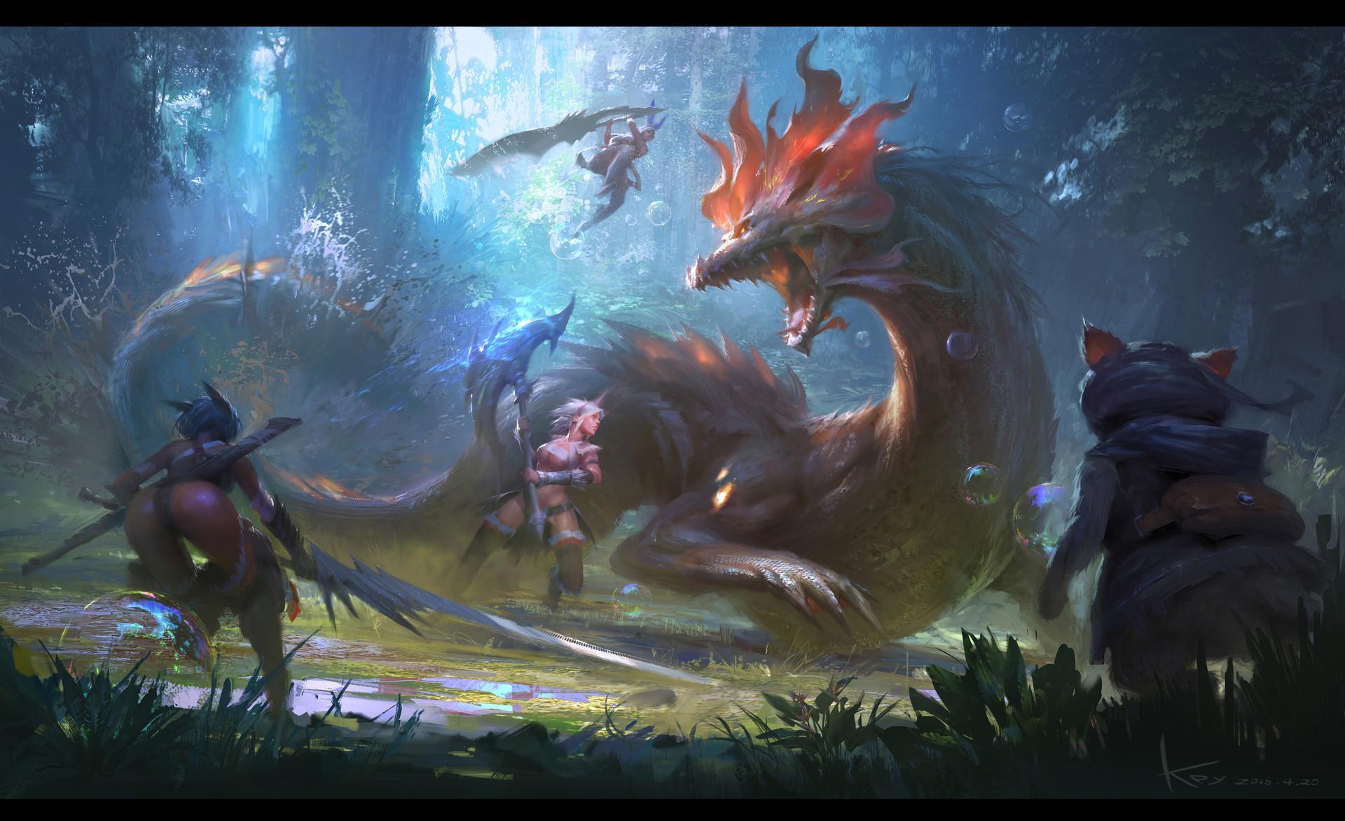 Concept Art Monster Hunter Backgroubd