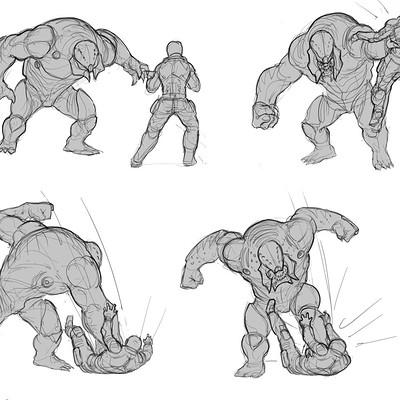 Piero macgowan xcom2 31 berserker action sketches piero macgowan