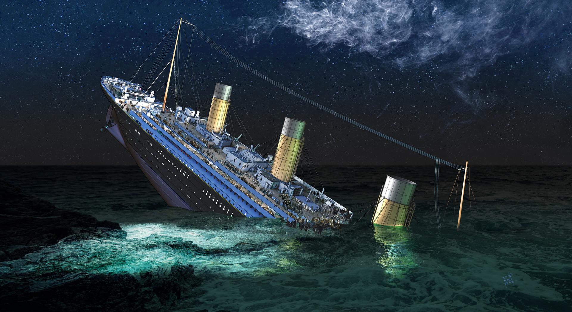ArtStation - Titanic Sinking Concept Environment Art, Dimitar Katsarov