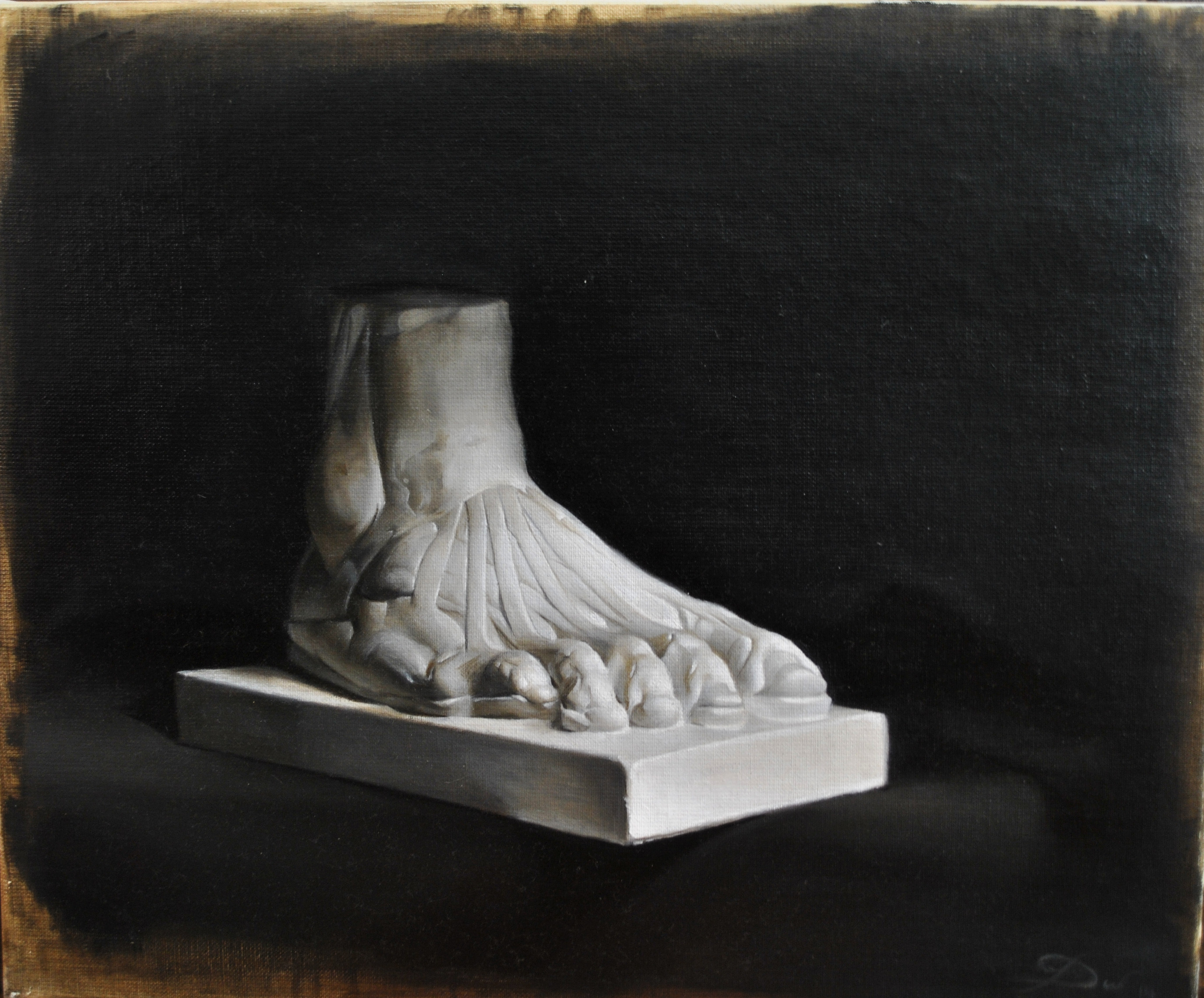 Oils- Anatomy foot study