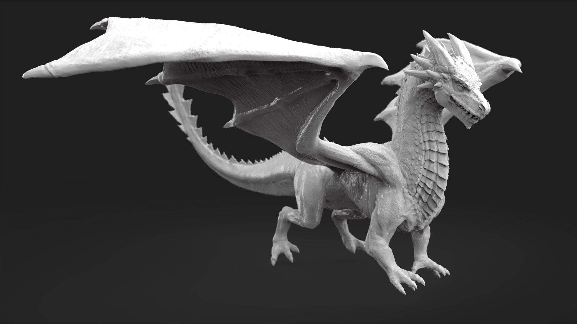 Dave jones dragon render 3