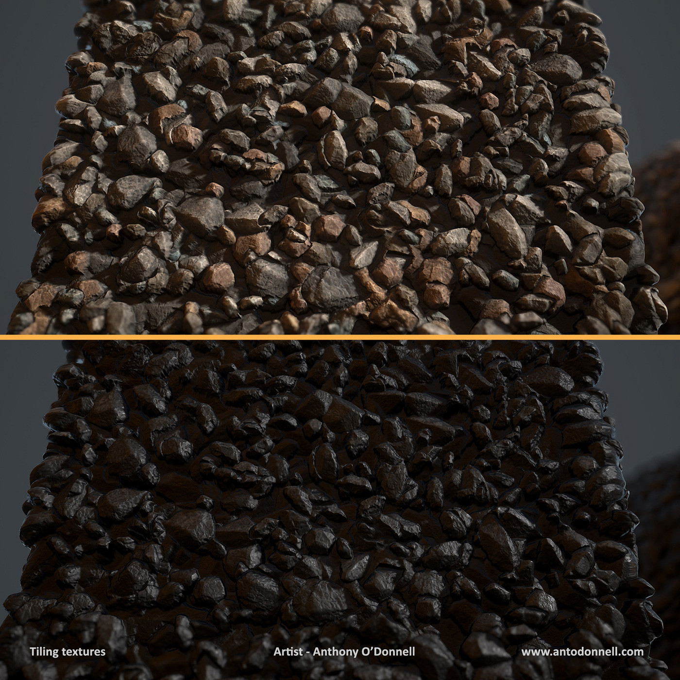 Anthony o donnell ad coal gravel closeup