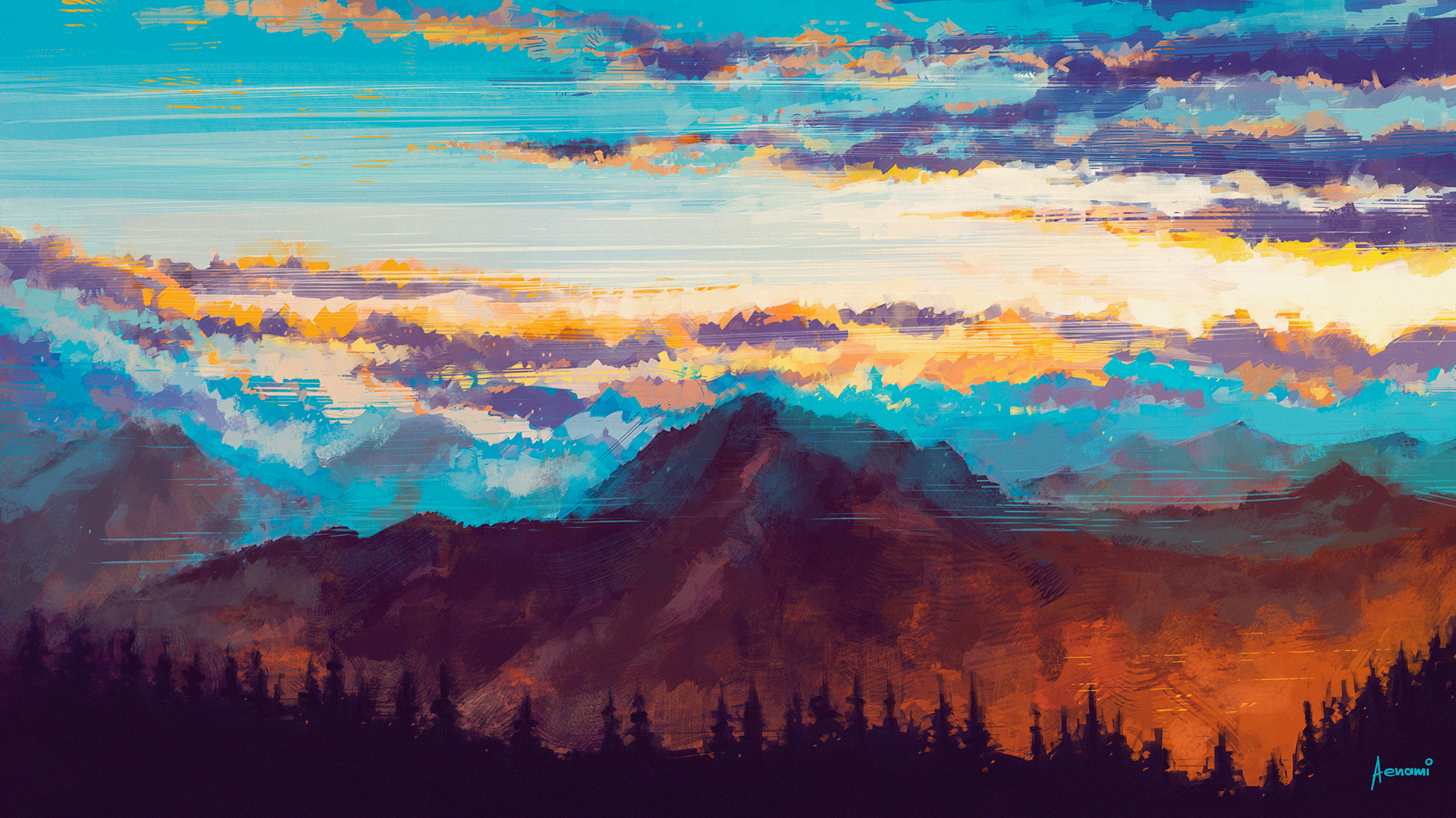 Alena aenami mountains1k