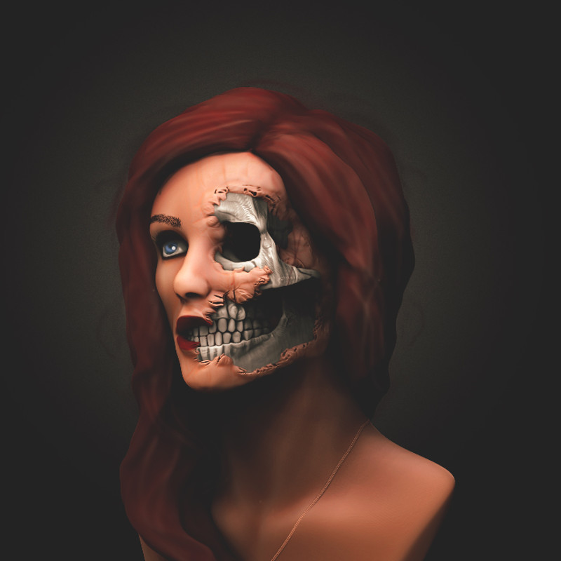 Zombie beauty photoshoot