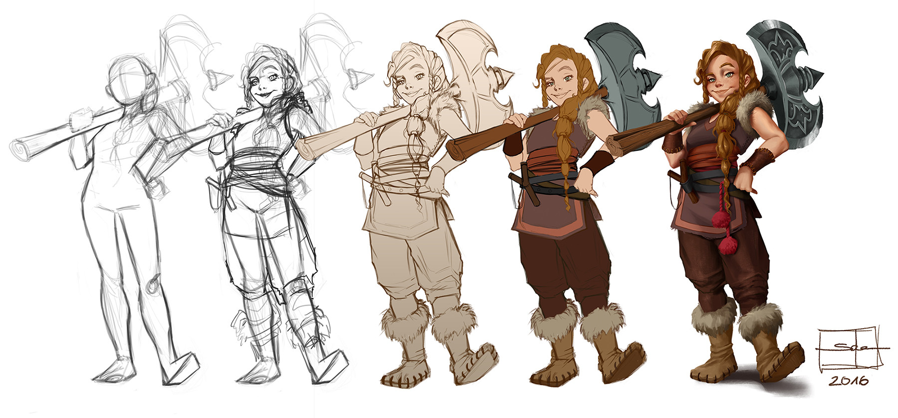 Salena barnes viking girl wip 03