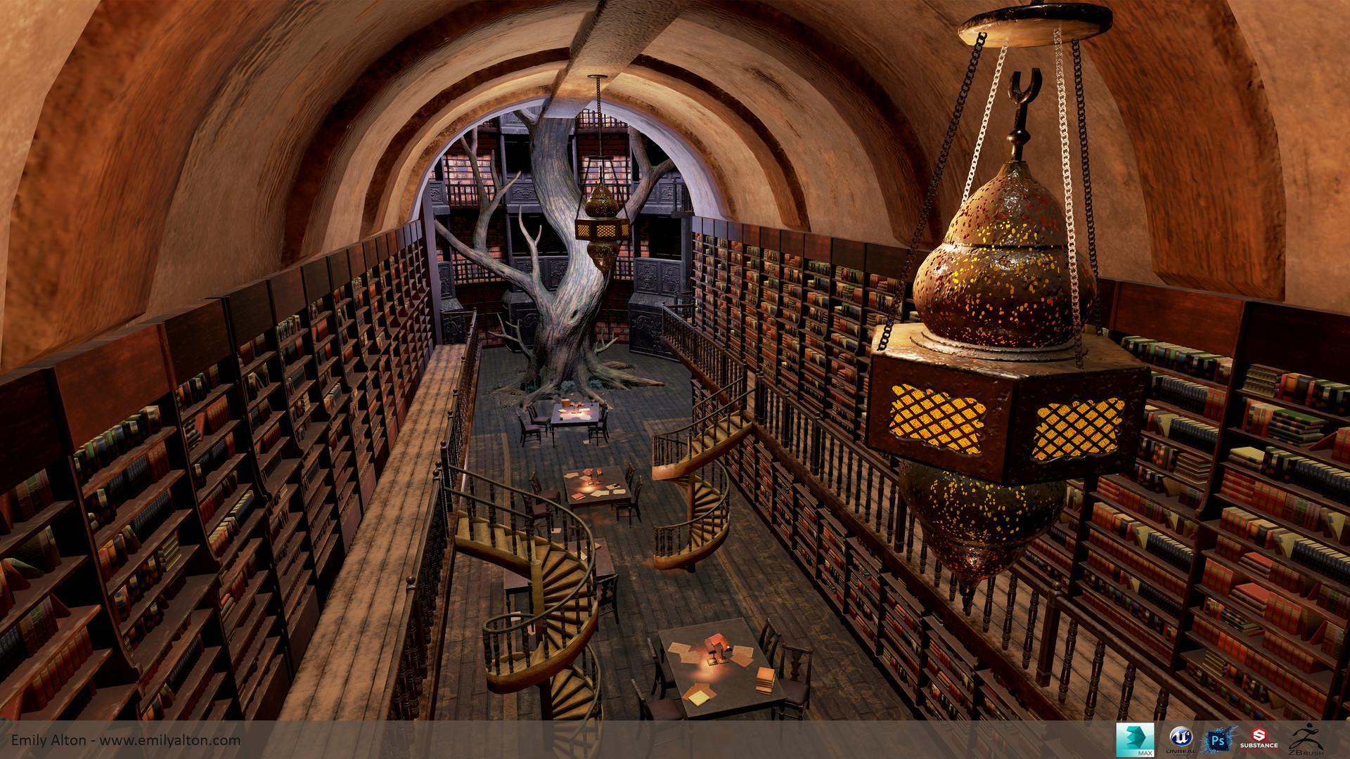 ArtStation - Fantasy Library, Emily Alton