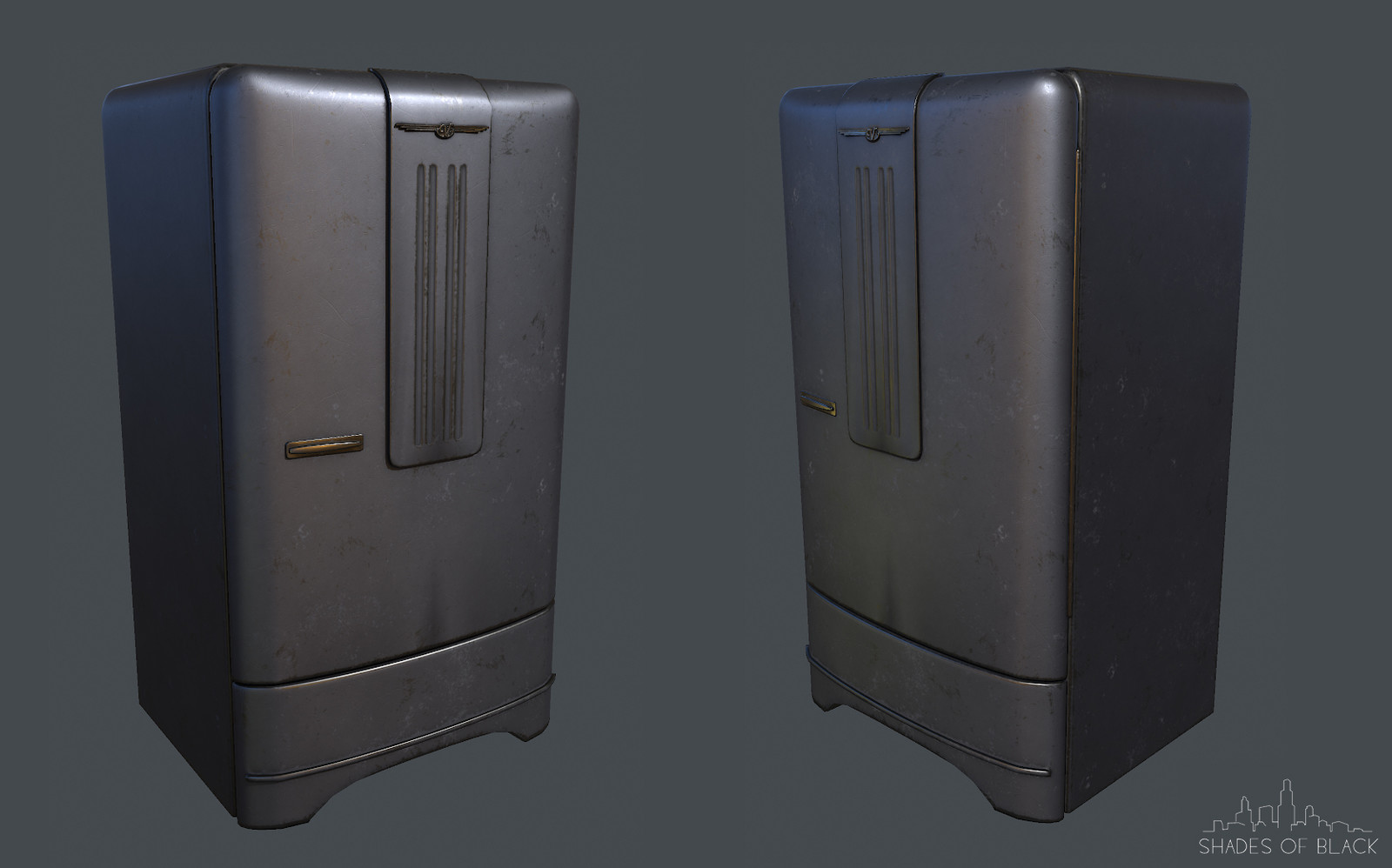 Fridge Low poly version
